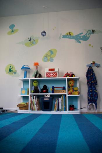 Детская комната в аквамариновых фантазиях