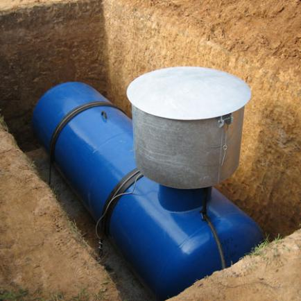 Газгольдер - лучшее решение для дачи