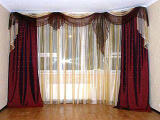 Оформление гостиной: шторы