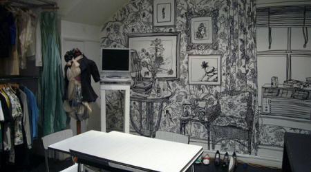 Роспись на стенах – кардинальные перемены в интерьере