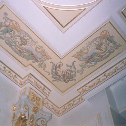 Роспись потолков и стен